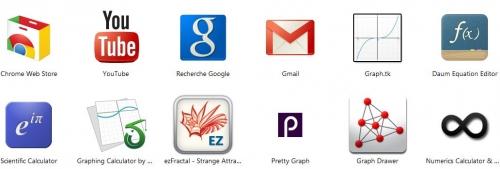 chrome, en ligne, application, mathématiques