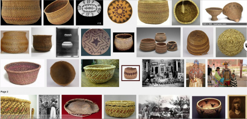 hualapai, paniers, géométrie, motifs