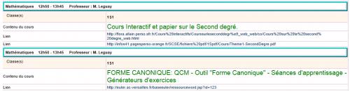 html, cahier de textes, ent